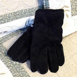 NWTAGS LADIES BLACK SUEDE GLOVES BY GOODFELLOW, L